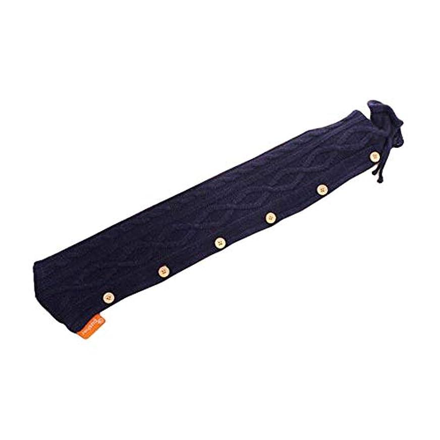 置換称賛波紋余分な長いデザインニットカバーと多機能温水ボトル