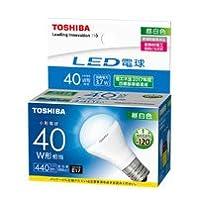東芝 LED電球ミニクリ40W下方向N色 【品番】(T)LDA4N-H-E17/S/40W