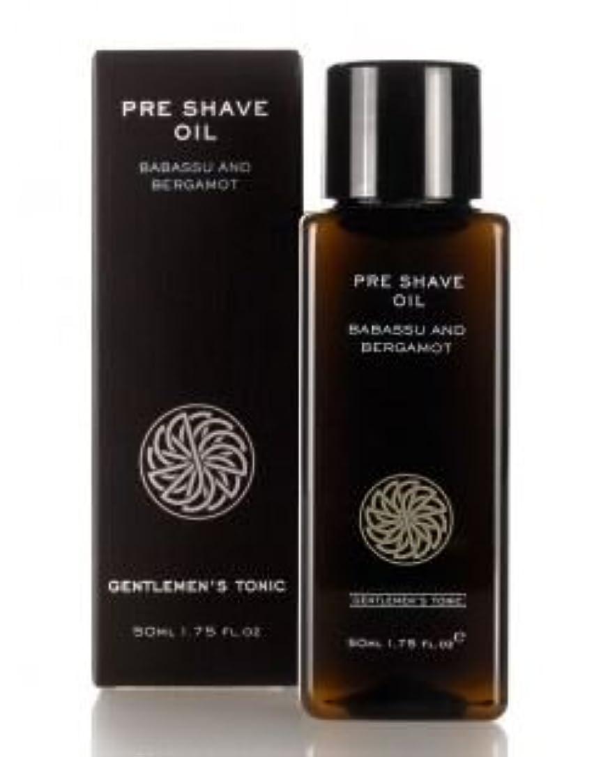 プランテーション開示するパステルGentlemen's Tonic ジェントルメンズトニック Pre Shave Oil (プレシェーブオイル) 50g