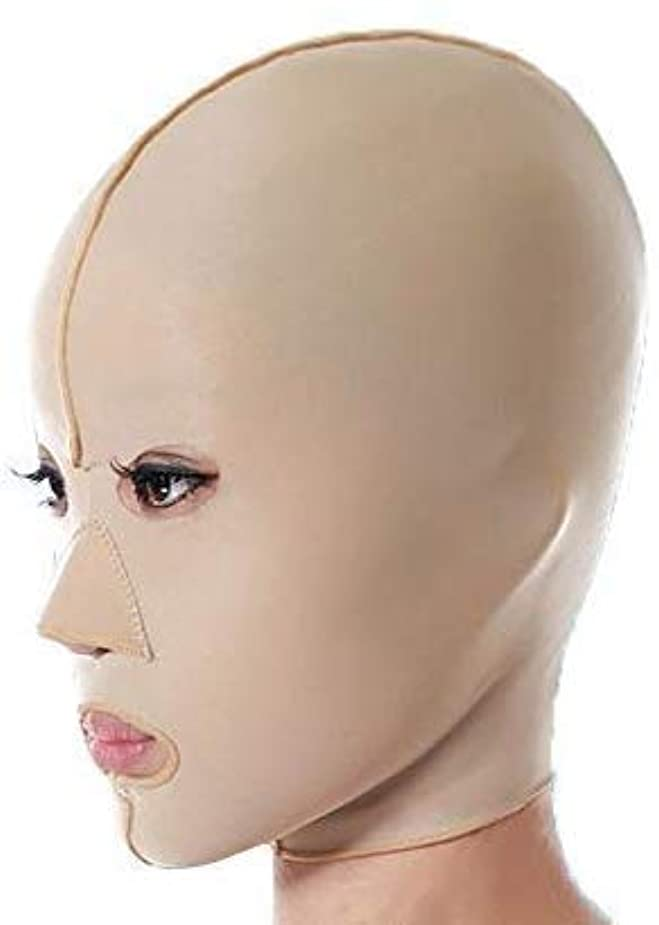 司令官高価な四分円美容と実用的なファーミングフェイスマスク、フェイシャルマスク医学強力なフェイスマスクアーティファクト美容抗たるみ法パターン顔リフティングファーミングフルフェイスマスク(サイズ:M)