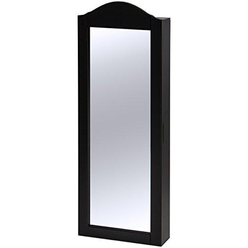 Best Choice Products壁マウントミラージュエリーキャビネットアルモア M ブラック SKY2822