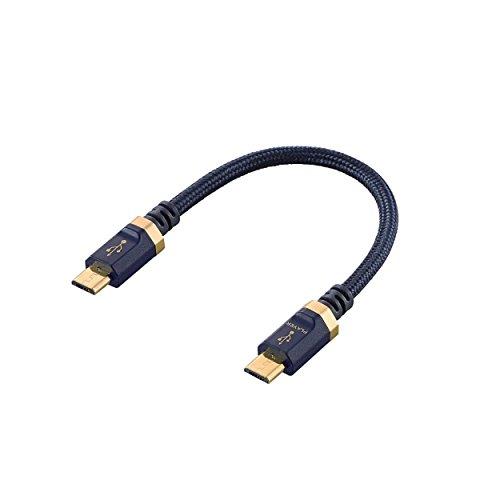エレコム USBケーブル オーディオ用 変換ケーブル (microB to microB)  金メッキコネクター採用 0.1m DH-MBMB01