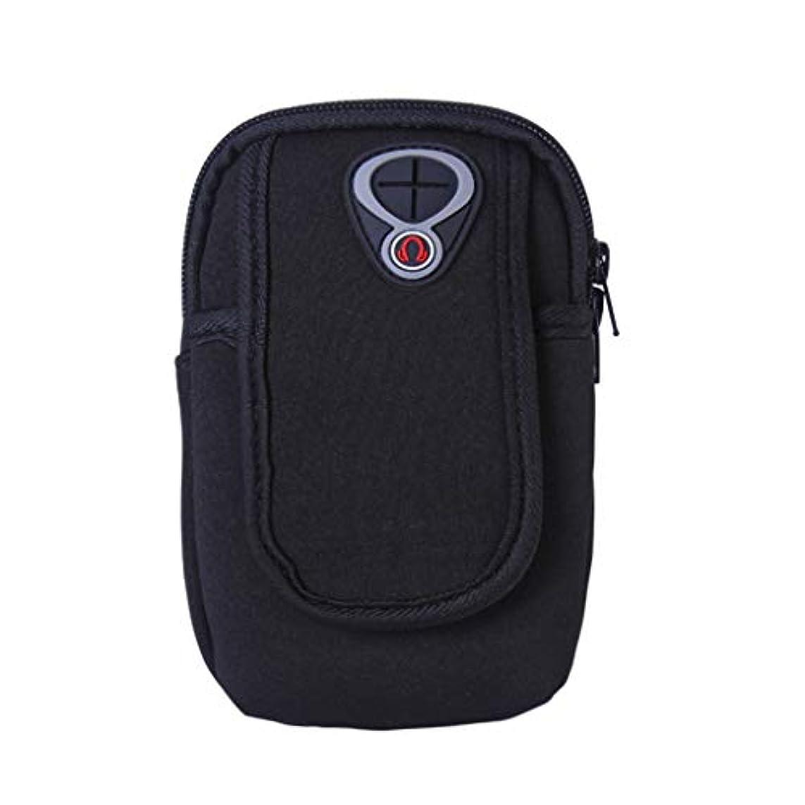 遠い警告緯度スマートフォンホルダー 携帯ケース YOKINO 通気性抜群 小物収納 防水防汗 軽量 縫い目なし 調節可能 男女共用
