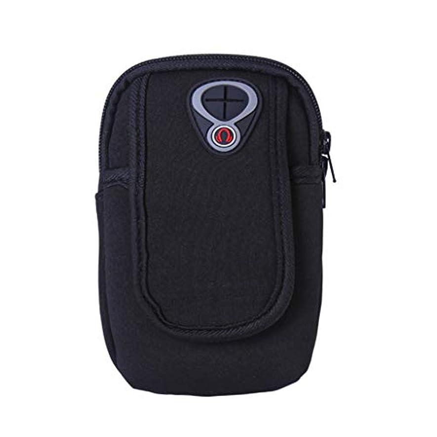 チラチラする電話する弱点スマートフォンホルダー 携帯ケース YOKINO 通気性抜群 小物収納 防水防汗 軽量 縫い目なし 調節可能 男女共用