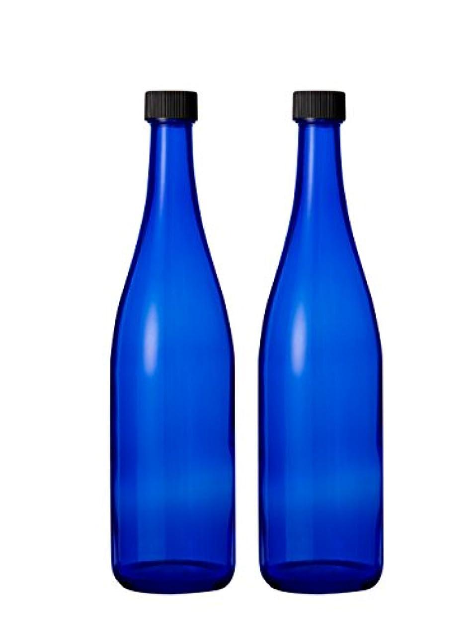 先のことを考える締め切り彼ブルーボトル 2本 ブルーソーラーウォーターに最適 720ml