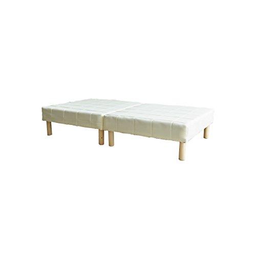 ホワイト/マットレスベッド 脚付き ソファ ボンネルコイル 分割式 軽量 シングル ホワイト ブラック おしゃれ