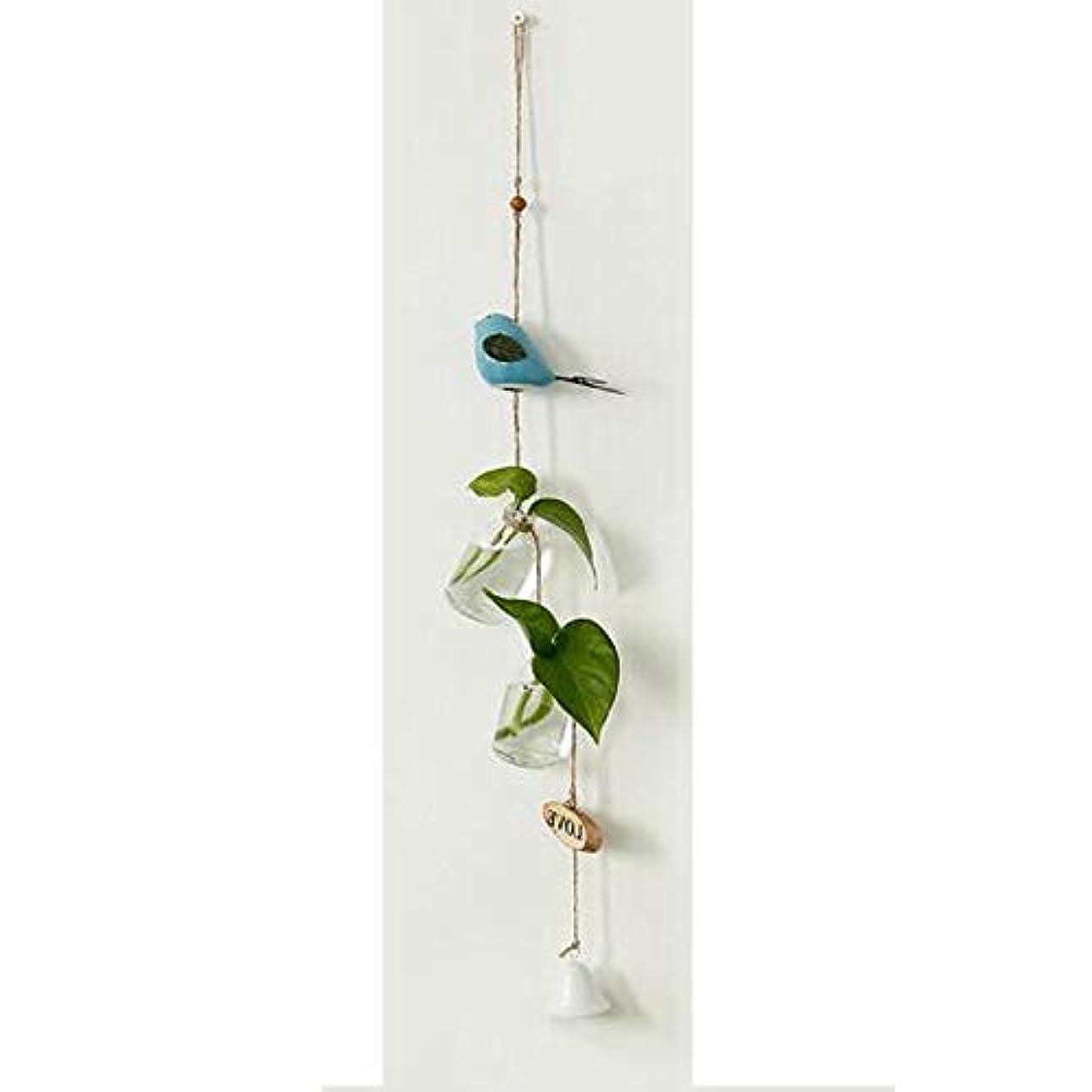 やろう窒素ハグJingfengtongxun 風チャイム、クリエイティブ?グラス風チャイム、白、ロープの長さ63センチメートルボトル(なし植物),スタイリッシュなホリデーギフト (Color : Blue)