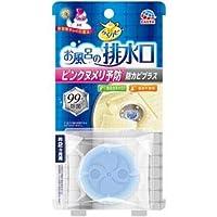 (まとめ)アース製薬 らくハピ お風呂の排水口用ピンクヌメリ予防 【×3点セット】