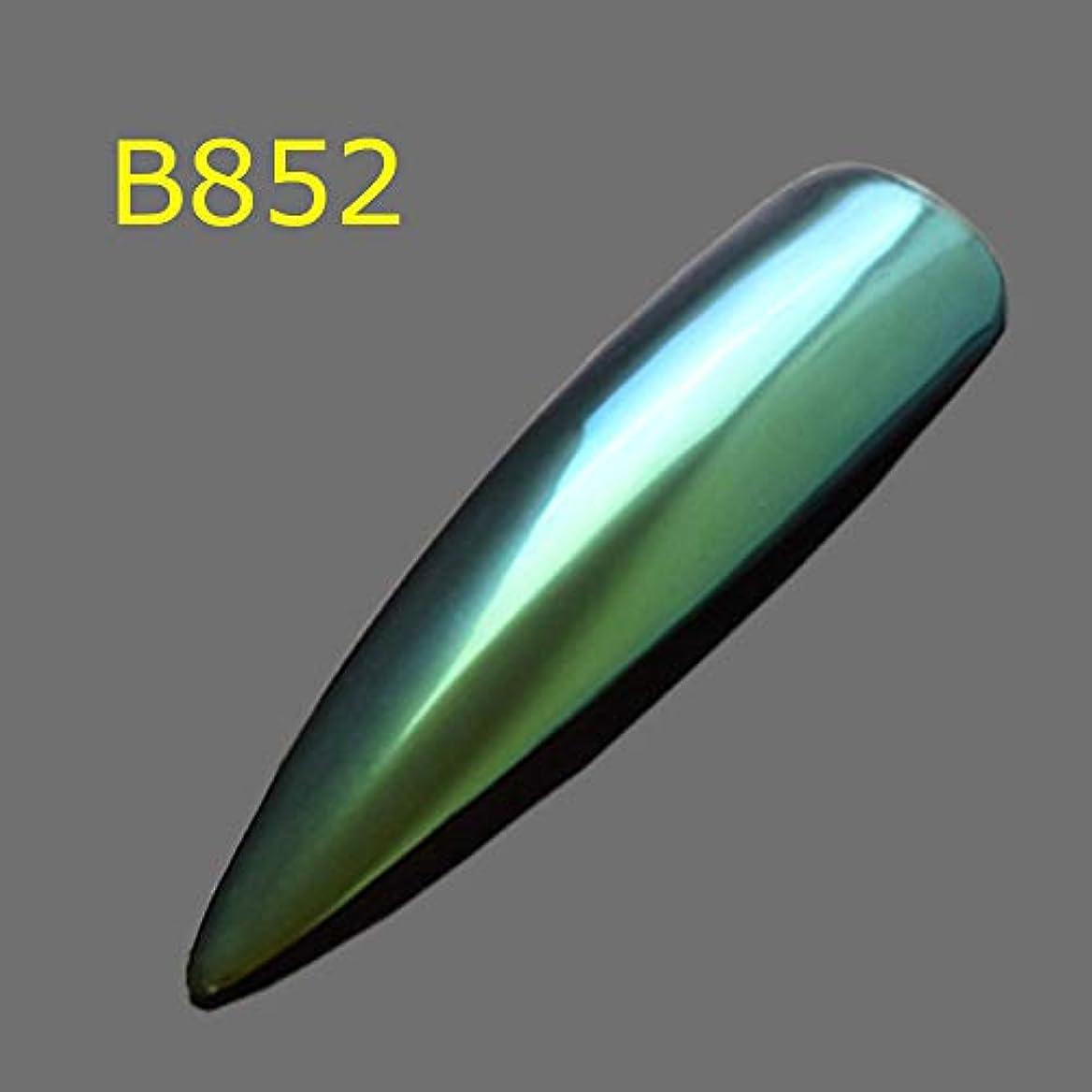 構造反響する動機付ける1ピースキラキラカメレオンフレークマジック効果グラデーションホログラフィックカラーネイルグリッターパウダーダストポリッシュジェルマニキュアSAB801-8800 B852
