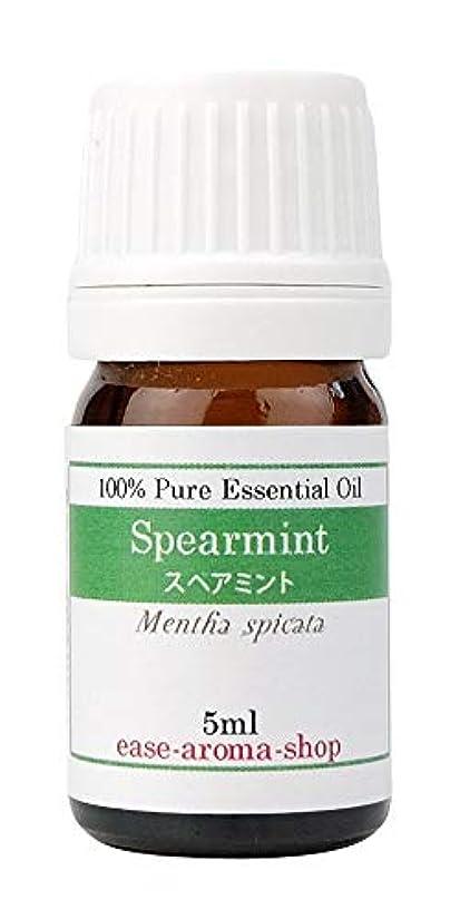 時折ドレイン繊毛ease アロマオイル エッセンシャルオイル スペアミント 5ml AEAJ認定精油