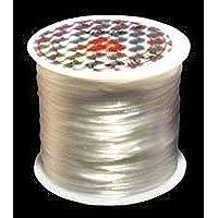 50m オペロンゴム 糸 水晶の線 繊維入り ポリウレタン伸びる ゴム さけるゴム (白色)