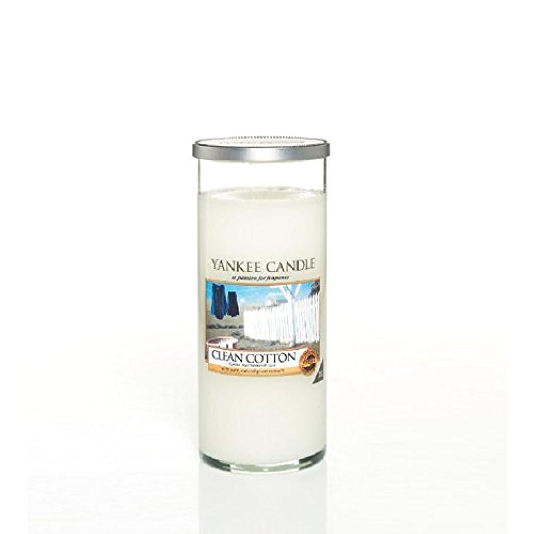 救い高架拍手Yankee Candles Large Pillar Candle - Clean Cotton (Pack of 2) - ヤンキーキャンドル大きな柱キャンドル - きれいな綿 (x2) [並行輸入品]