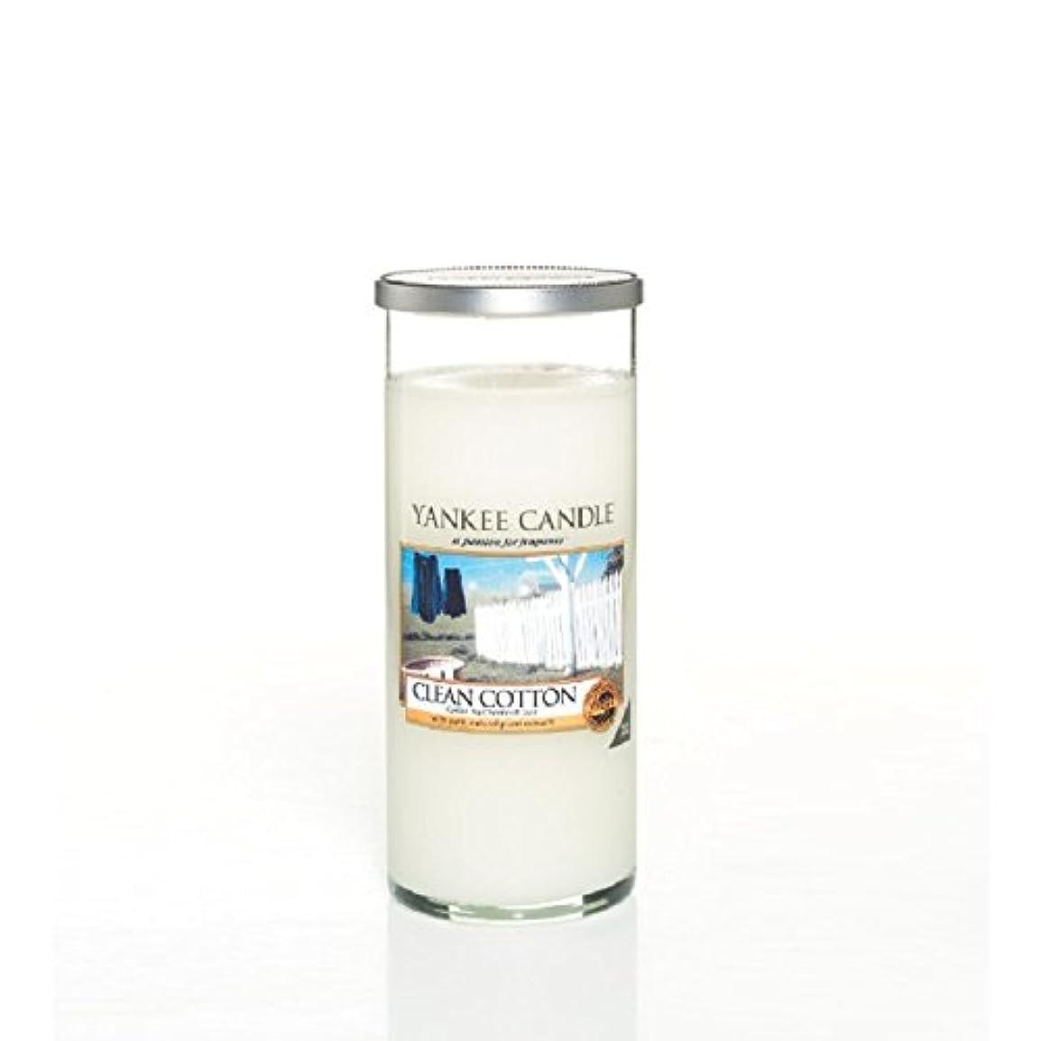 傀儡法廷縁石Yankee Candles Large Pillar Candle - Clean Cotton (Pack of 2) - ヤンキーキャンドル大きな柱キャンドル - きれいな綿 (x2) [並行輸入品]