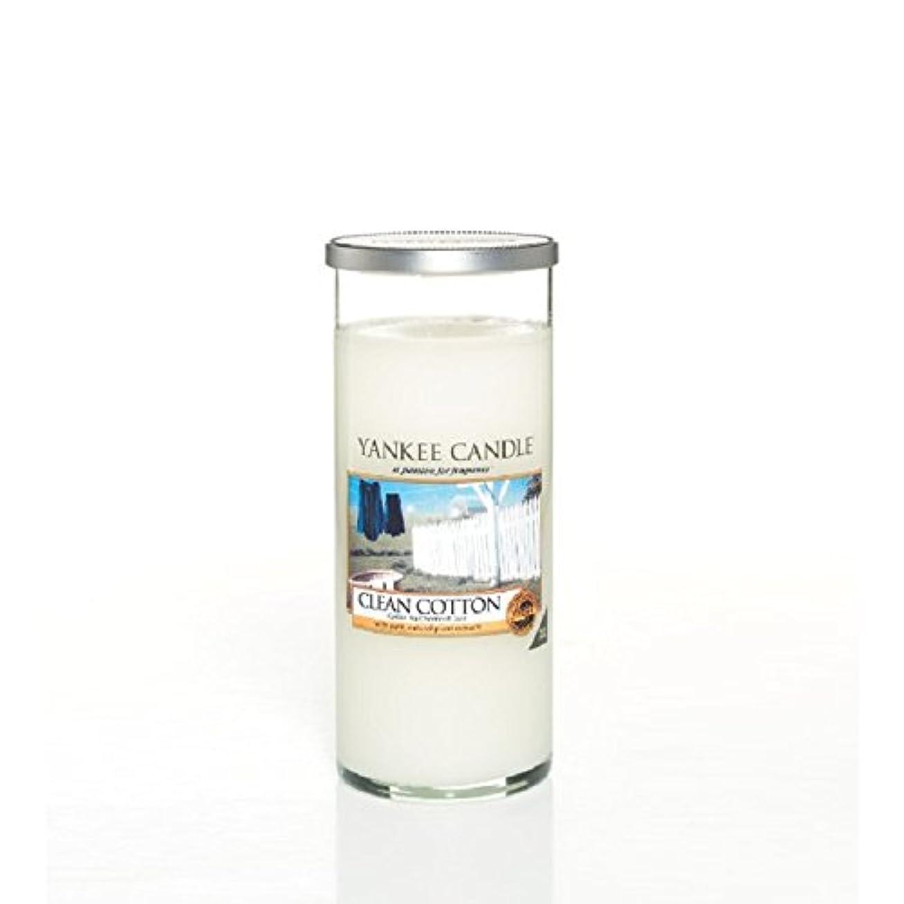 花瓶まろやかな非公式Yankee Candles Large Pillar Candle - Clean Cotton (Pack of 2) - ヤンキーキャンドル大きな柱キャンドル - きれいな綿 (x2) [並行輸入品]