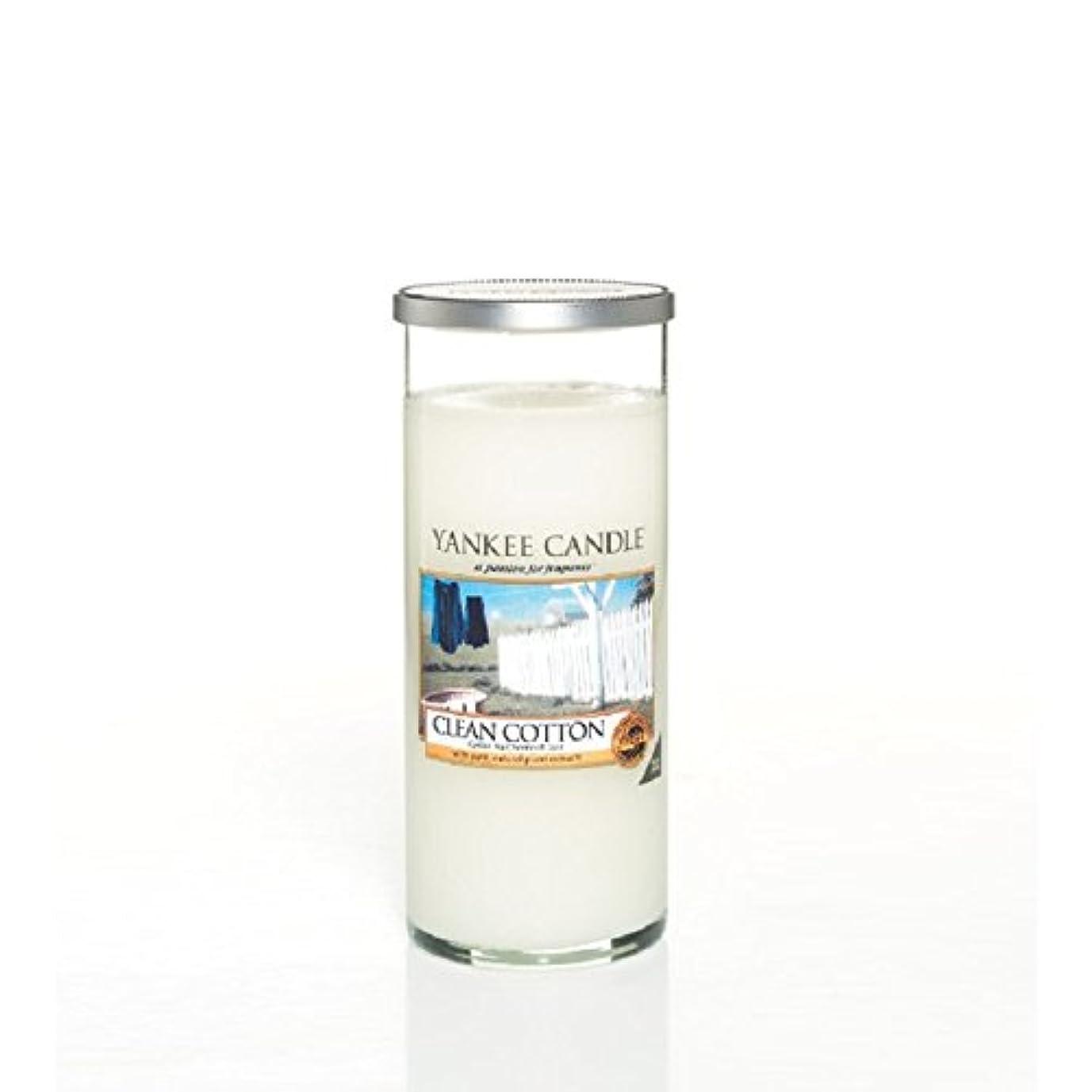 手術誕生クラッチYankee Candles Large Pillar Candle - Clean Cotton (Pack of 2) - ヤンキーキャンドル大きな柱キャンドル - きれいな綿 (x2) [並行輸入品]