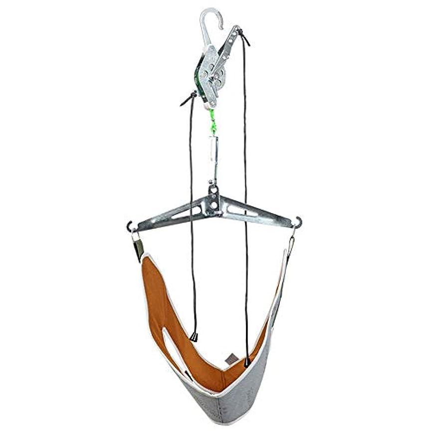 入射そこ切る携帯用懸濁液の頚部牽引装置、ダイナモメーターが付いている贅沢な首の世帯の牽引の伸張器使いやすくおよび耐久財,Gray