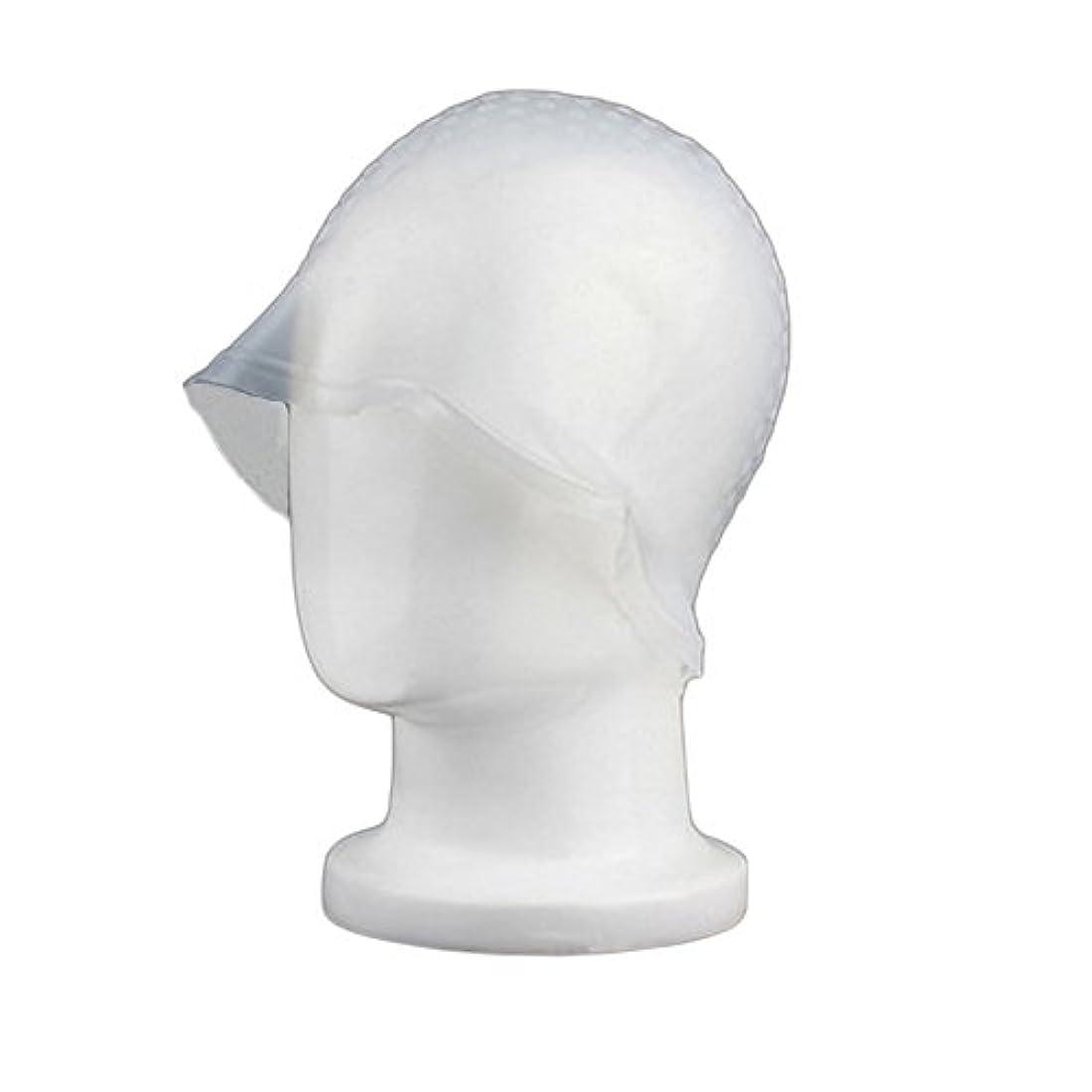 山岳脳好むZafina 毛染め用 キャップ 再利用可能 染め専用 ボンネット ヘアカラー (透明)