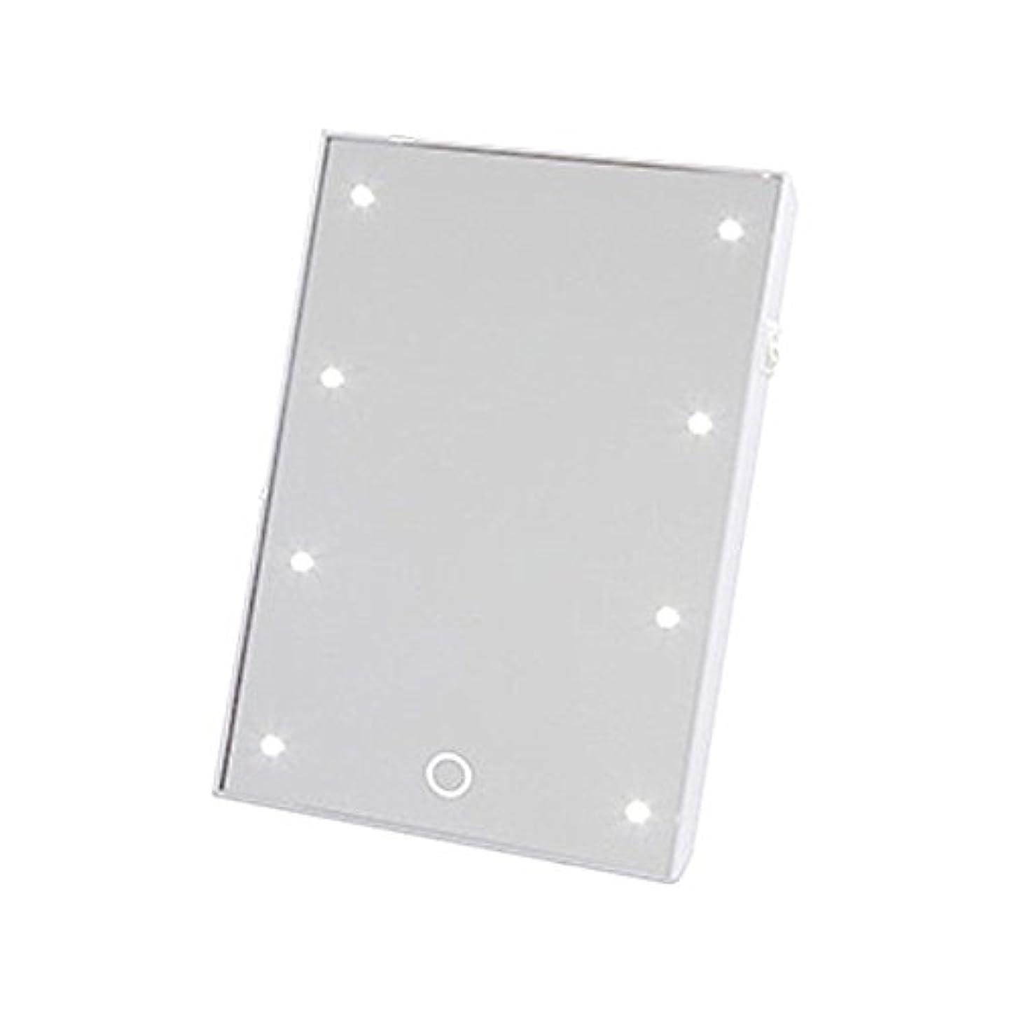 ラウンジ矢印別のヤマムラ ブライトニングミラー タッチS (LED付きスタンドミラー) YLD-06 ホワイト