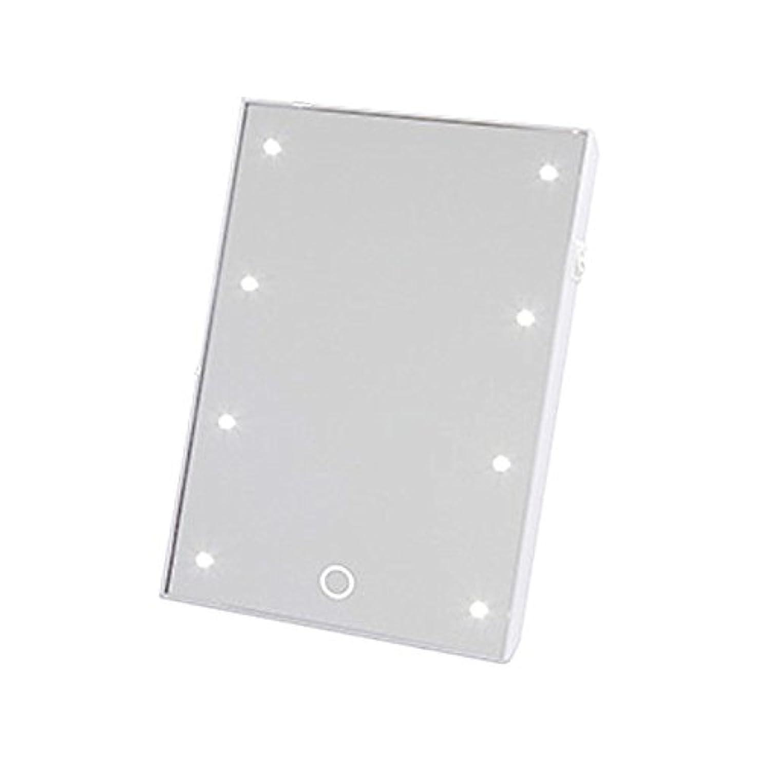 合体それぞれマイナーヤマムラ ブライトニングミラー タッチS (LED付きスタンドミラー) YLD-06 ホワイト