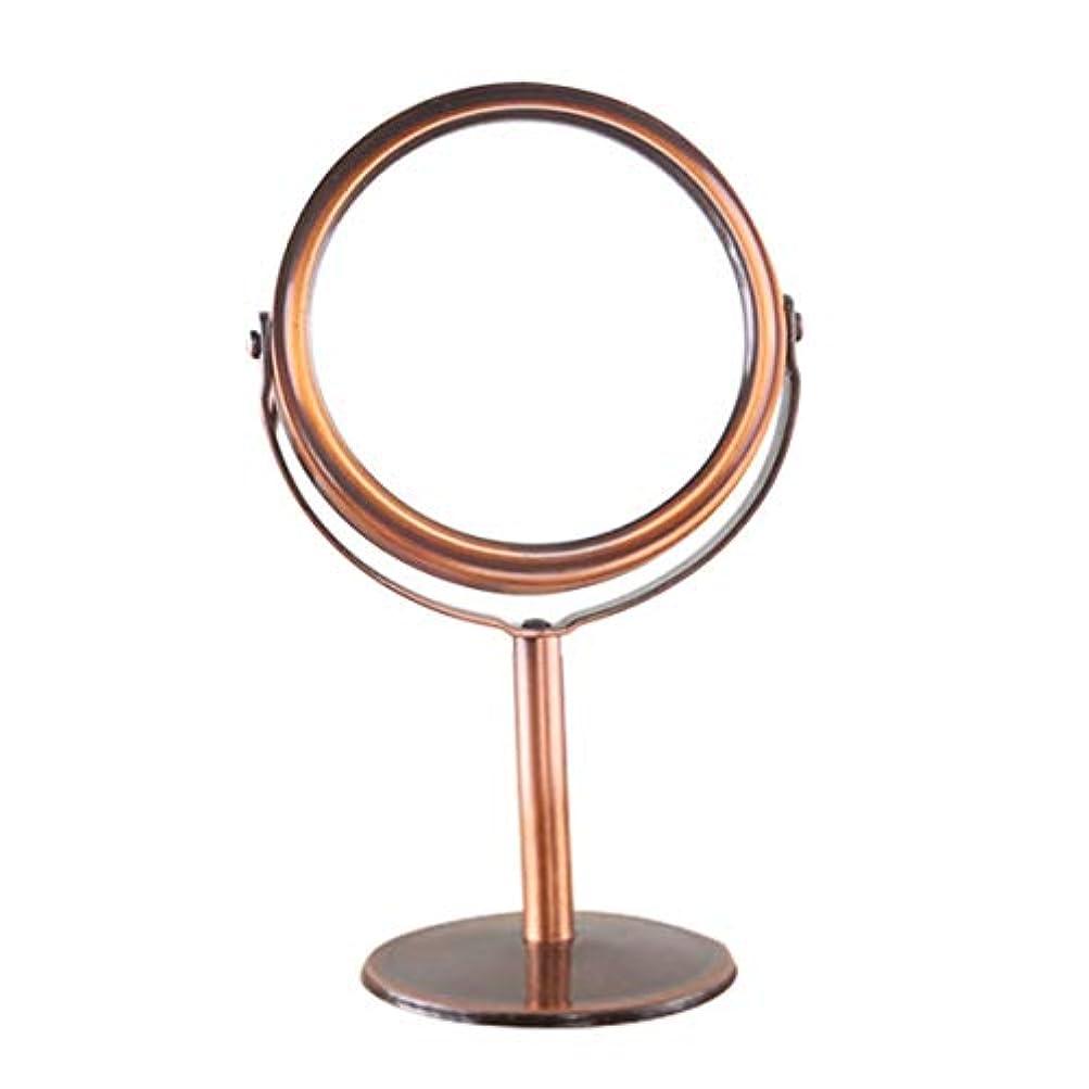北へ溢れんばかりのしなやかIntercorey 828t韓国の金属ミラー化粧鏡化粧台鏡デスクトップ回転鏡1:2倍率機能化粧鏡