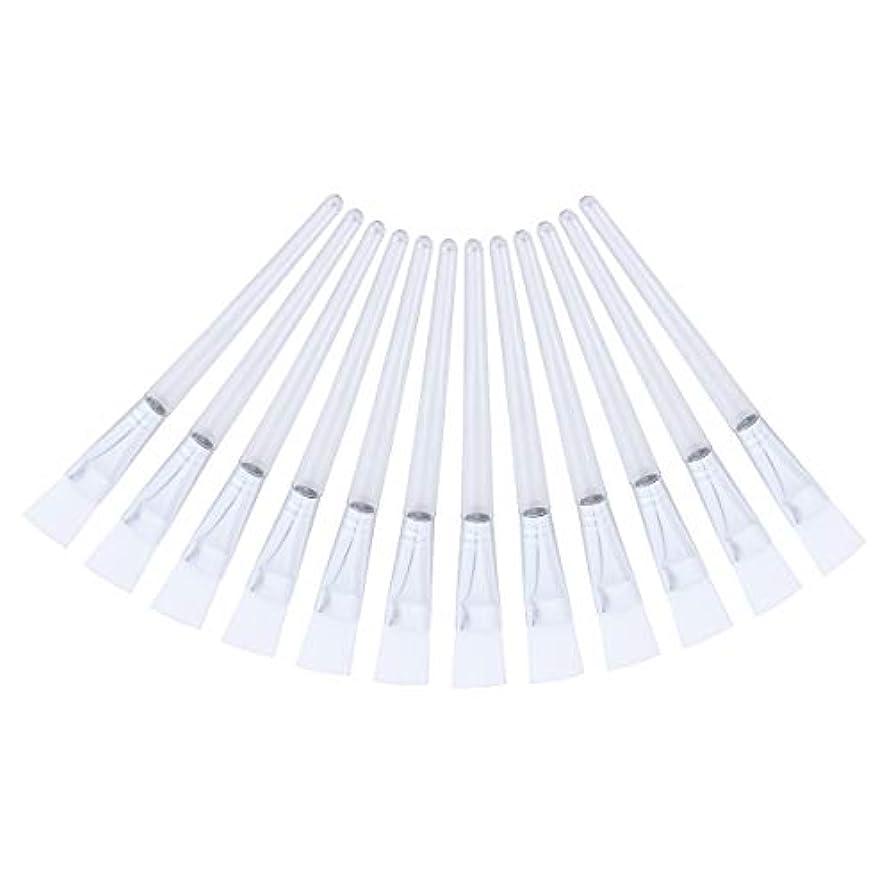 報いる死の顎構想するSUPVOX 12PCSプロフェッショナルフェイシャルマスクブラシ透明クリスタルロッドソフトスキンケアマスクdiyブラシツール