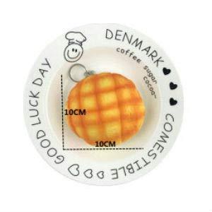 メロンパンスクイーズ キーホルダー 食玩 カバン スマホアクセ ぷにぷに むにむに 握れるおもちゃ(10センチ ブラウン)