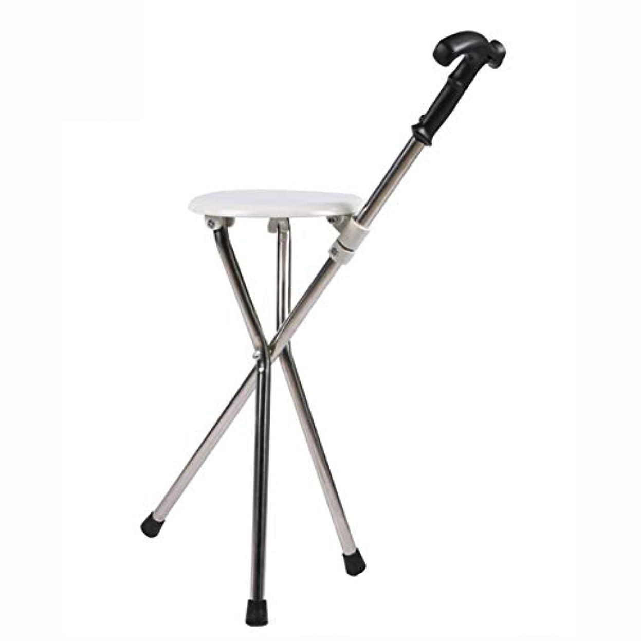 偏心謎下向きDSHUJCステンレス鋼松葉杖椅子折りたたみ杖シート高品質PPクッション22 mmステンレス鋼チューブ高齢者、安全、滑り止め