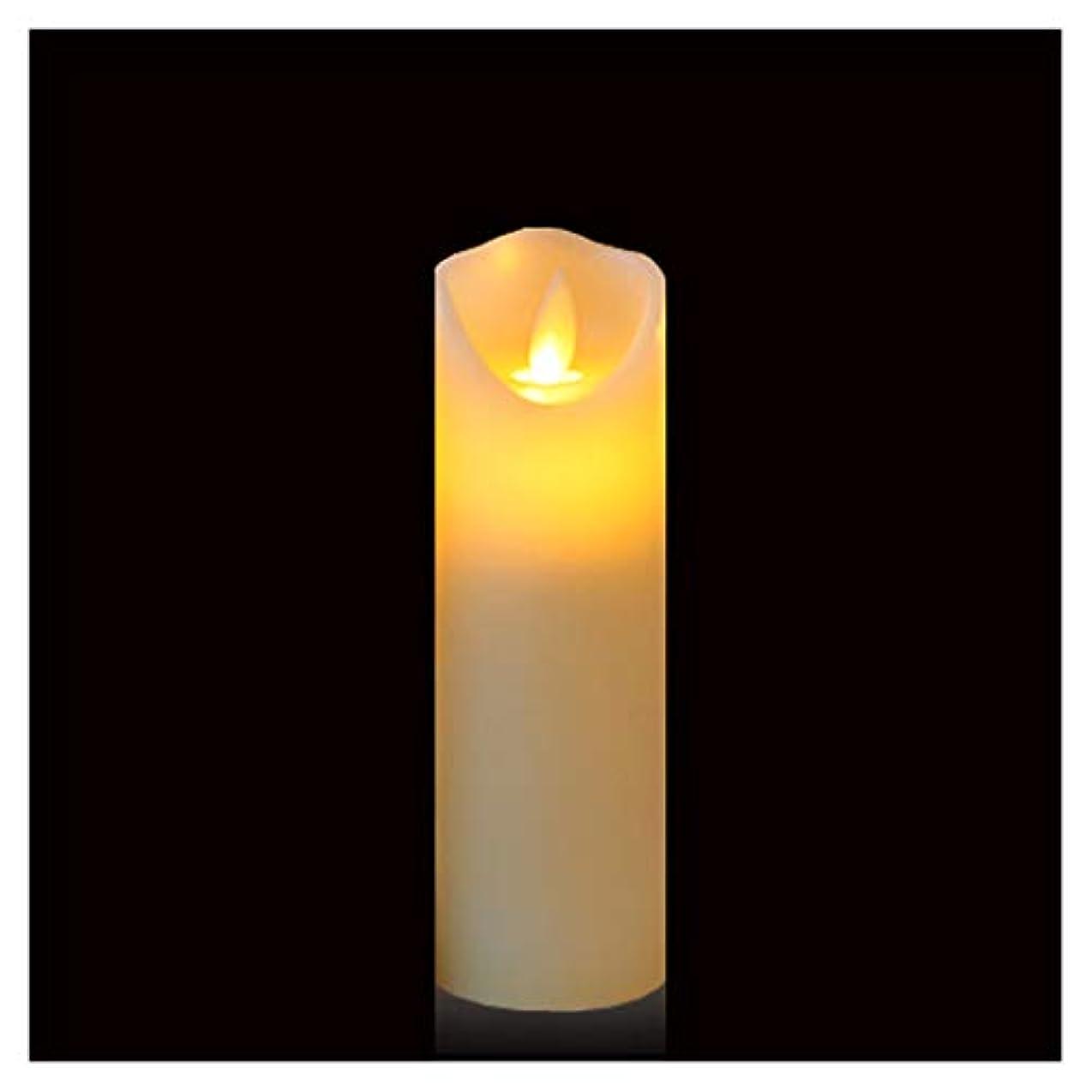 開発する常に販売員Gootu 火を使わないキャンドル 単3電池式 LEDピラーキャンドル 本物のロウ 揺らめく無香キャンドル 電子キャンドル レストランシーンキャンドル 誕生日パーティーキャンドル ホワイト H6