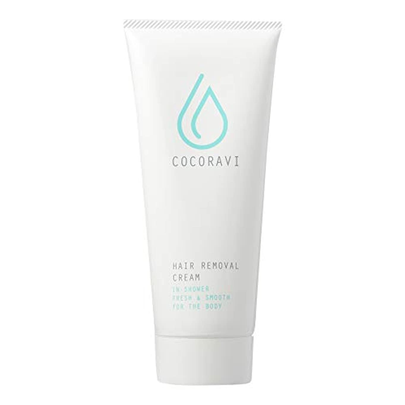 下手文明叙情的なCOCORAVI Hair Removal Cream (ココラビヘアリムーバークリーム) 除毛クリーム ボディ用 医薬部外品 スキンケア 美容 [内容量200g/説明書付き]