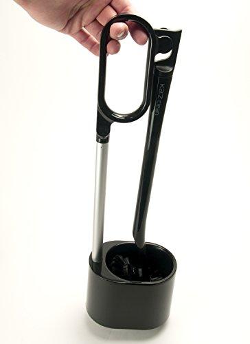 カズクリーン トイレ用ブラシ スタンドセット ブラック 1セット