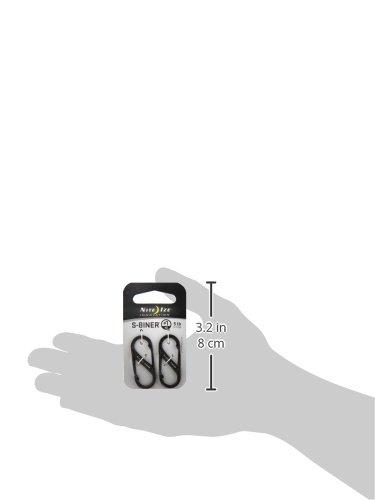 NITEIZE(ナイトアイズ) エスビナーステンレス #1 2個入 ブラック SB1-2PK-01 (日本正規品)