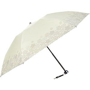 (ムーンバット) MOONBAT ランバンオンブルー 折りたたみミニ傘(遮熱&遮光) パラソル&雨傘 晴雨兼用 顔料プリント×刺繍 22-084-90270-02 52-50 イエロー 親骨の長さ50cm