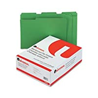 UNIVERSAL OFFICE PRODUCTS 16162 Colored File Folders, 1/3 Cut Assorted, Two-Ply Top Tab, Letter, Green, 100/Box by Universal Office Products