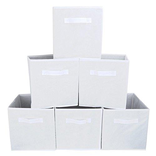 RoomClip商品情報 - Orange 収納ボックス インナーボックス 幅27×奥行27×高さ28㎝ (6個セット, ホワイト)