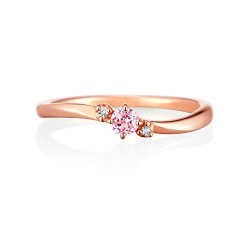 4℃ (ヨンドシー) ダイヤモンド&シンセティックサファイアK10ピンクゴールド(PG)リング 日本サイズ8号 111226143106