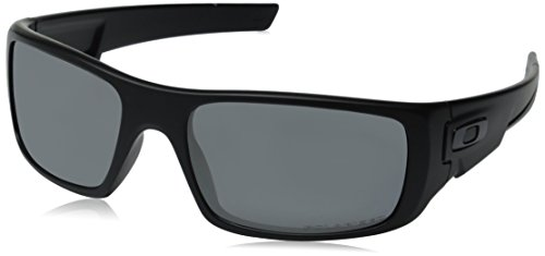 Oakley Crankshaft Rectangular Matte Black/Black Iridium Polarized Mens Sunglasses - OO9239-923906