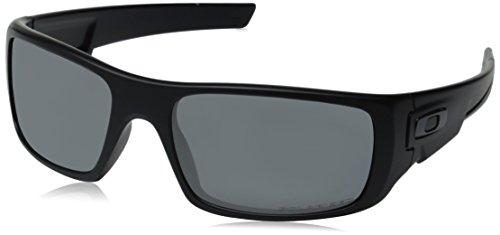 Oakley Crankshaft Rectangular Matte Black/Black Iridium Polarized Mens Sunglasses - OO9239-923906