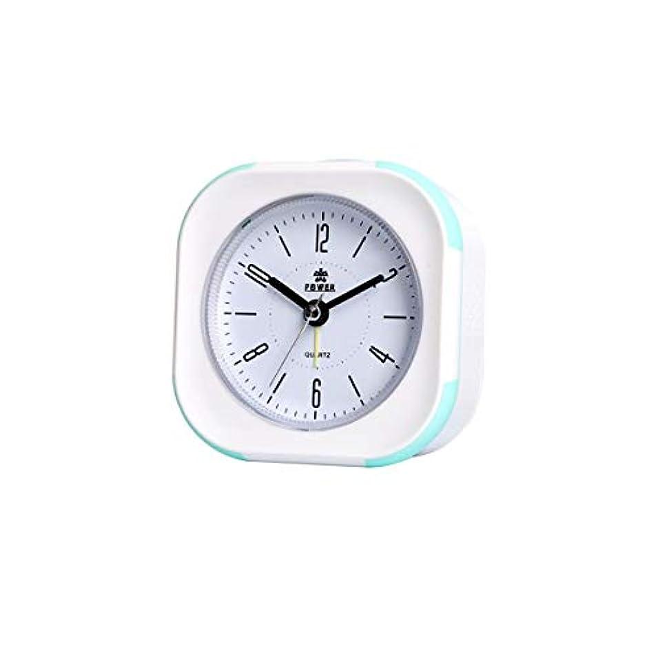 信条国歌取得するKaiyitong001 目覚まし時計、ベッドサイドミュート目覚まし時計、メタルリンギングナイトライトミュージックアラームテーブル、学生用時計に適して、寝室のシンプルなファッション発光かわいい時計、(青) (Color : Blue)