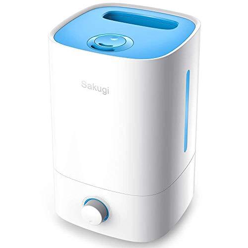 加湿器 卓上 令和革新版 Sakugi 3.5L 加湿器 大容量 超音波式 12-18畳対応 長時間連続稼働 乾燥対策 卓上加湿器 ミストの吹出が360°調整可能 静音、省エネ 空焚き防止機能付き