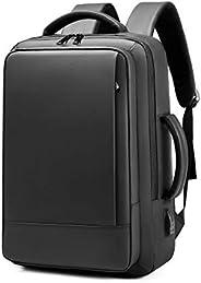 リュックサック ビジネスリュック バックパック メンズ 大容量 軽量 拡張 薄型 撥水加工 16インチ PC対応 ブラック 黒3way A4 USB充電ポート 多機能 20L~35L 海外 出張 旅行 通勤 通学 修学旅