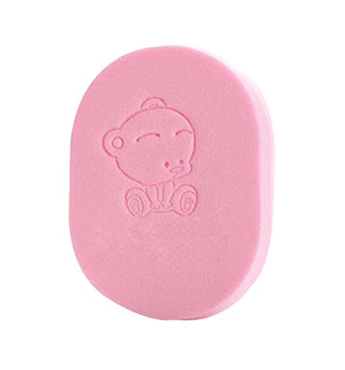正当化する摩擦マリナーバススポンジベビーバスコットン子供用バスブラシ製品、ピンク