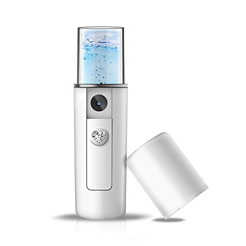 ODB フェイススチーマー ハンディミスト フェイスケア 保湿ミスト フェイス補水器 乾燥対策 USB充電式 ミニ持ち運び便利 (ホワイト)