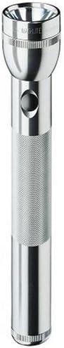 Maglite Incandescent 3-Cell D Flashlight, Silver