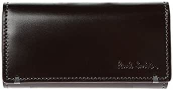 ショップ袋 専用箱付 Paul Smith ポールスミス キーケース 4連 コードバン レザー 美しい光沢感 863509 P991馬革 牛革(内) バーガンディー×ブルー 本革 希少 キーリング付