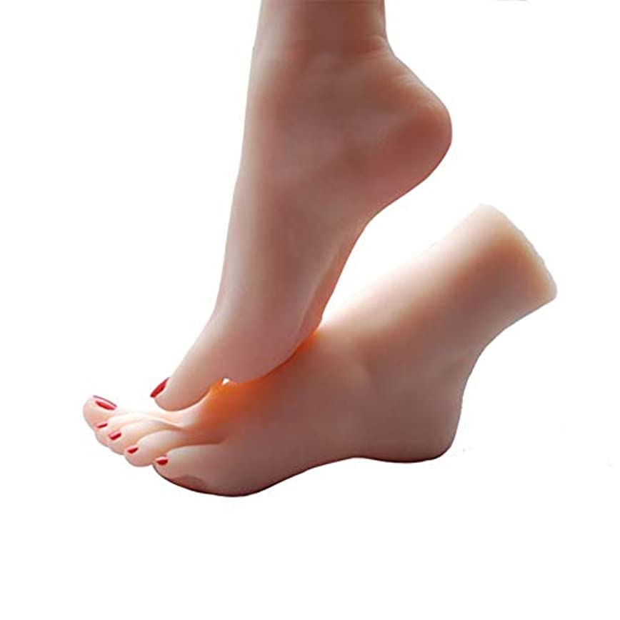 送った自発的カメスケッチネイルアートの練習ジュエリー靴ソックス表示(ペア)としてシリコーン女性の足のライフサイズマネキン