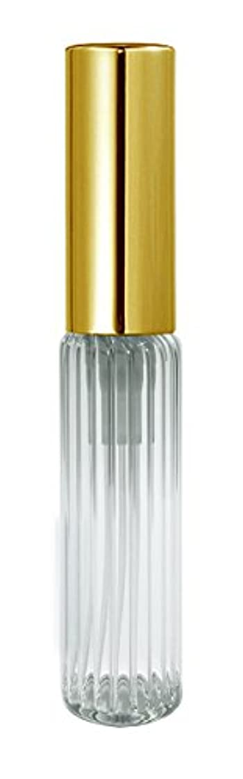 持っている財産キャロライン60501 グラスアトマイザー ストライプ ゴールドキャップ