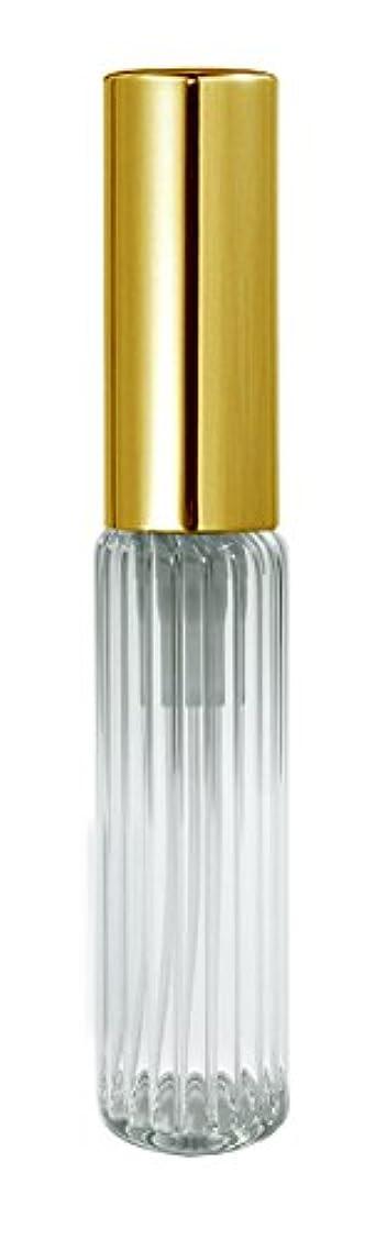 ブルゴーニュパール60501 グラスアトマイザー ストライプ ゴールドキャップ