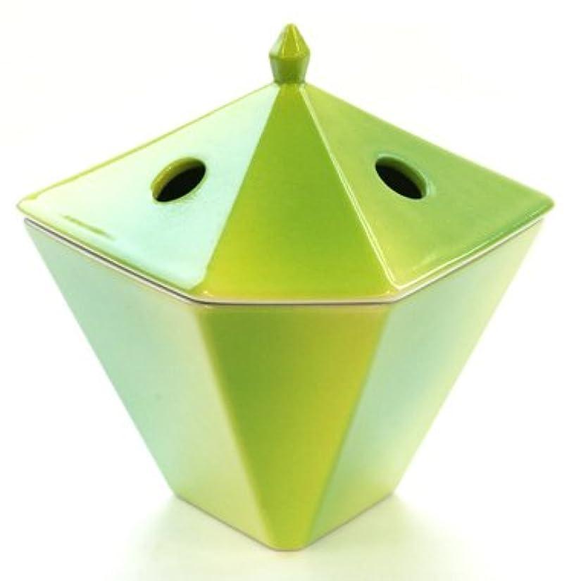 嵐の磨かれた共役縁香炉 黄緑