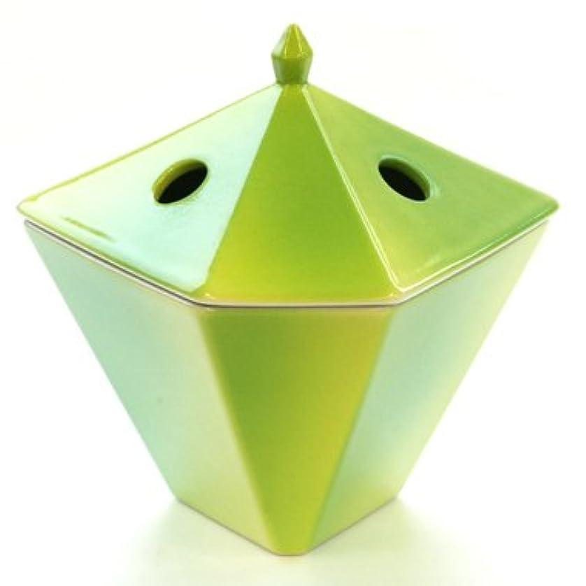 虫を数える吹雪テープ縁香炉 黄緑