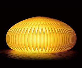 DuCote(デュコテ)LAMP ~紙でできた折り畳めるインテリア家具~厳選したカナダの素材を使用 (Yellow)